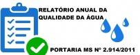 Relatório anual da qualidade da água